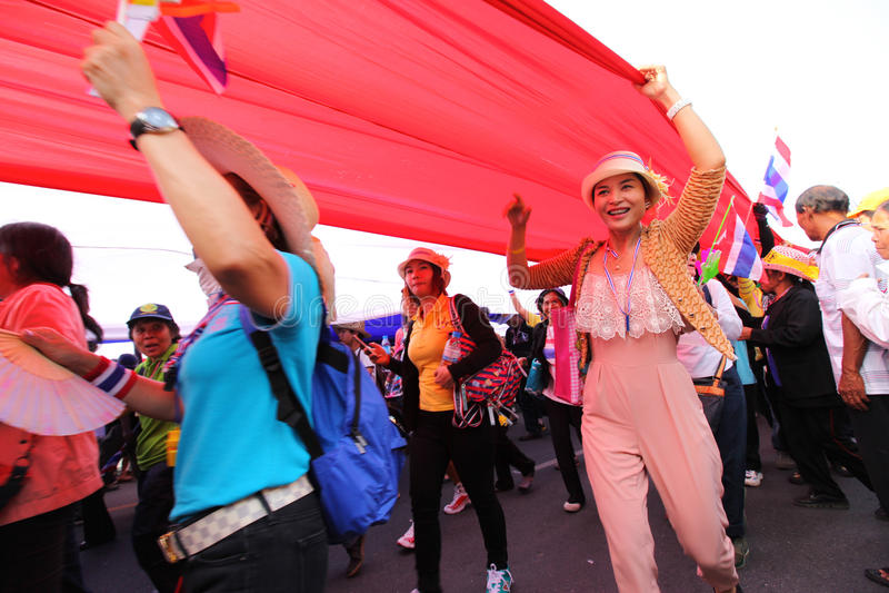 未认出的反政府抗议者 免版税库存照片