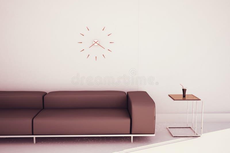 末端现代沙发表 向量例证