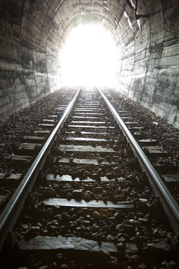 末端轻的隧道 免版税图库摄影