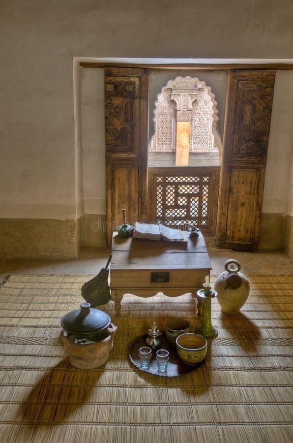 本・马拉喀什medersa摩洛哥yussef 库存照片