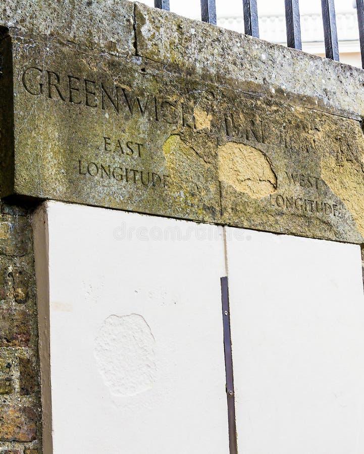 本初子午线 格林威治,伦敦,英国 免版税库存照片
