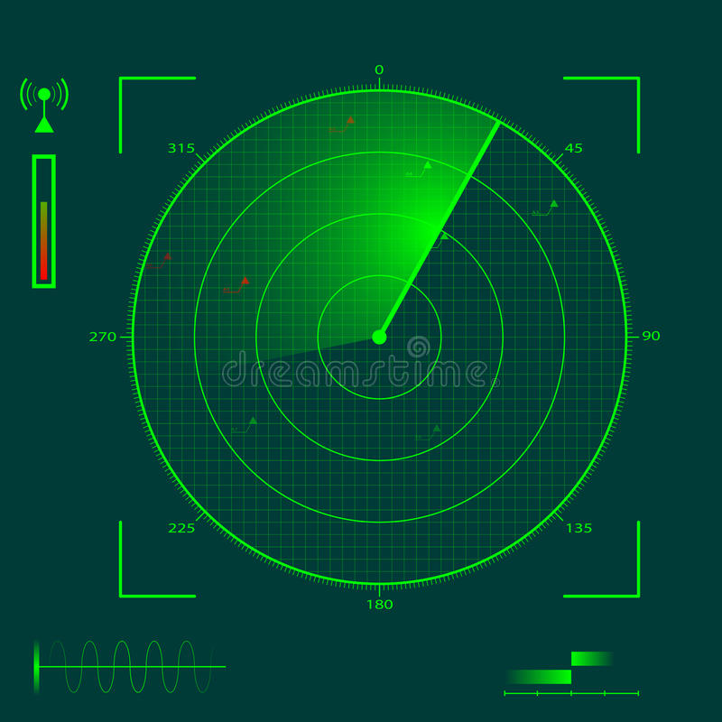 本地化雷达 库存例证