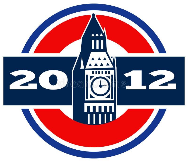 本大时钟伦敦tower2012 库存照片
