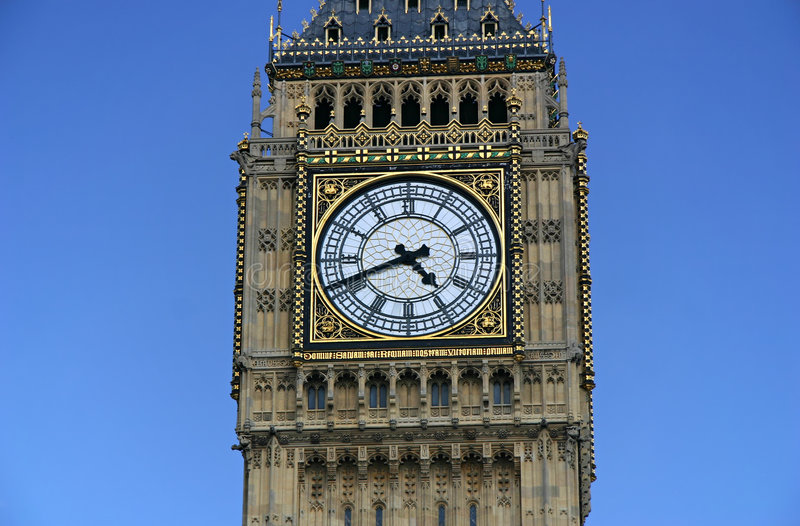 本大特写镜头englad伦敦 免版税库存图片