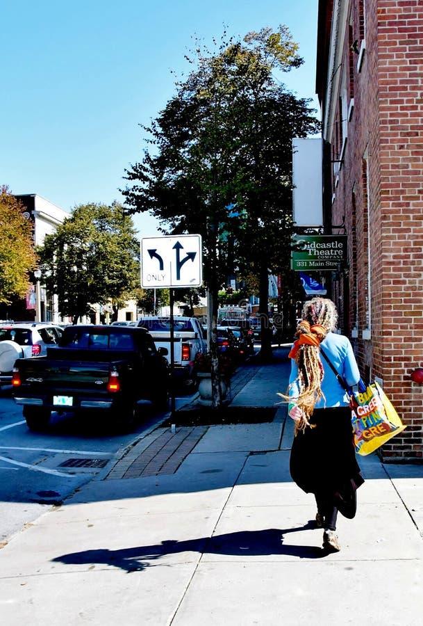 本宁顿佛蒙特状态美国街道 免版税库存图片