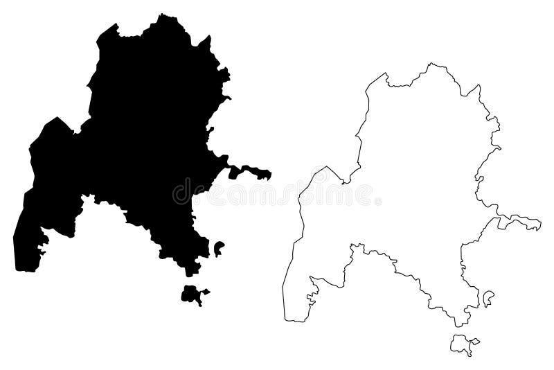 本尚古勒-古马兹州地图传染媒介 向量例证