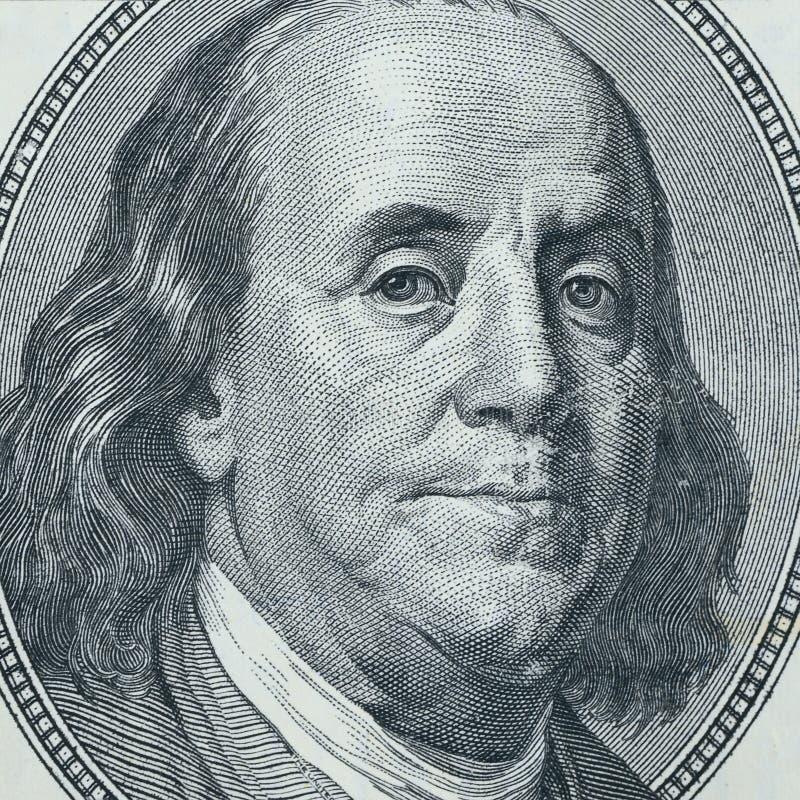 本杰明特写镜头富兰克林 免版税库存图片