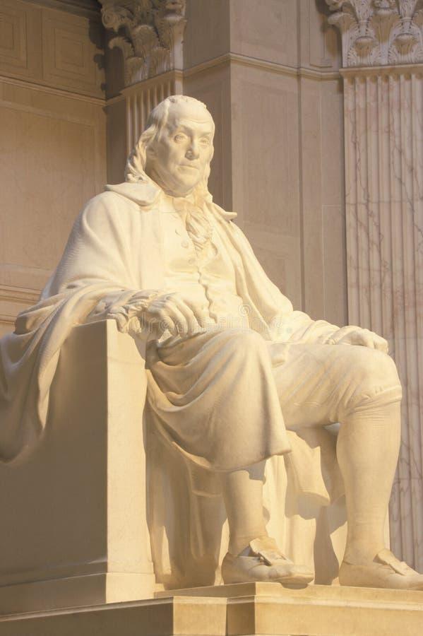 本杰明・富兰克林纪念品,富兰克林学院,费城,宾夕法尼亚 免版税图库摄影