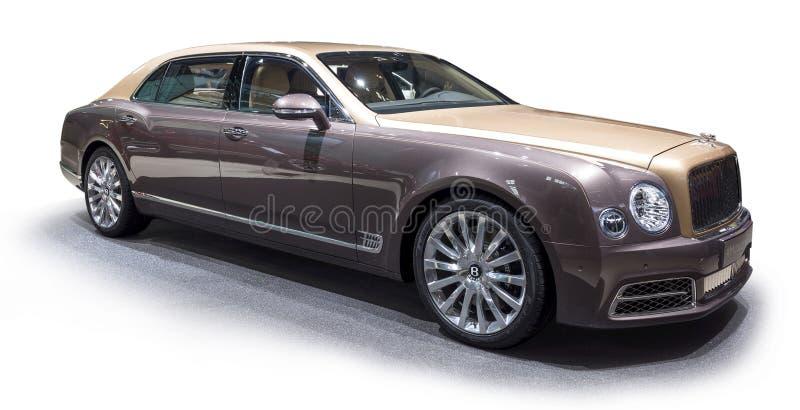 本特利Mulsanne EWB大型高级轿车 免版税库存图片