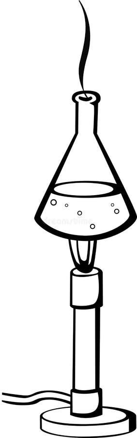 本生灯化学制品烧瓶 皇族释放例证
