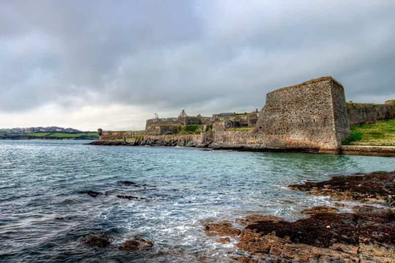 本营查尔斯堡垒爱尔兰kinsale墙壁 免版税库存照片