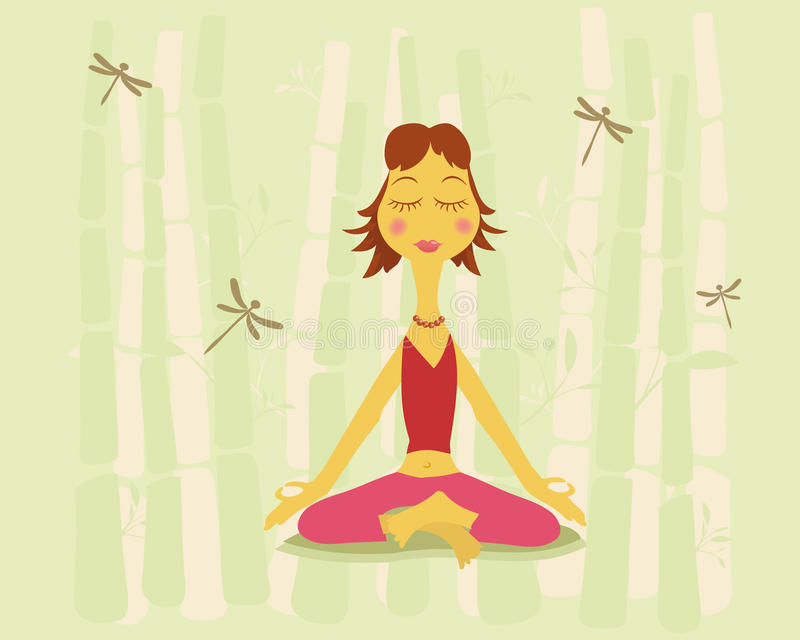 本质瑜伽 向量例证