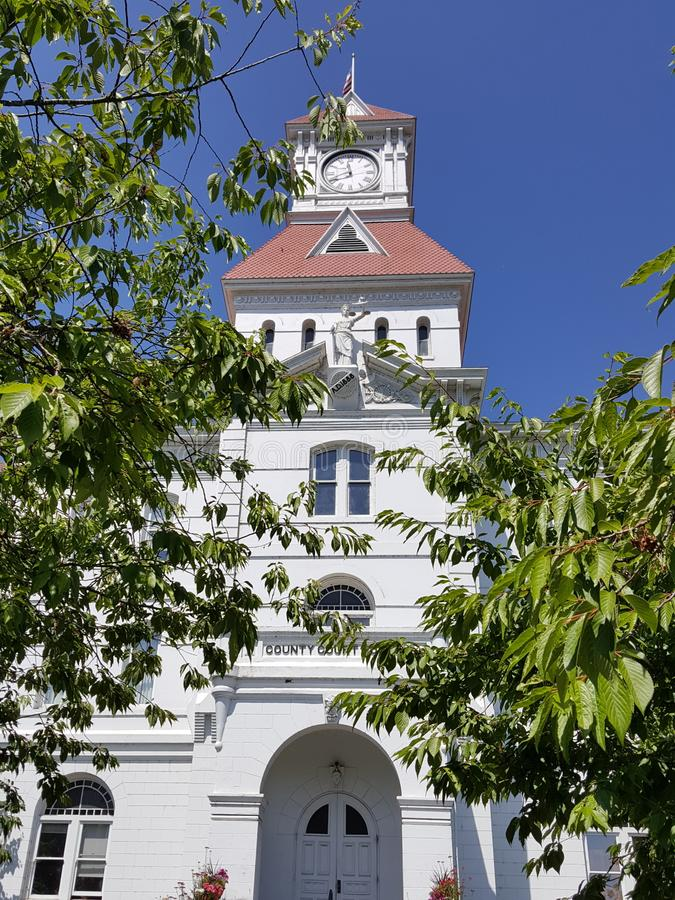 本顿县俄勒冈法院大楼 图库摄影