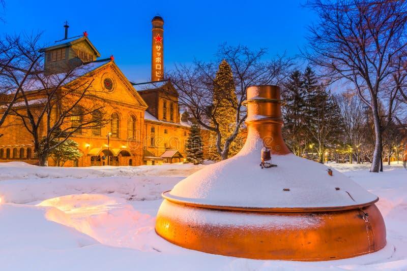 札幌啤酒工厂 免版税库存照片