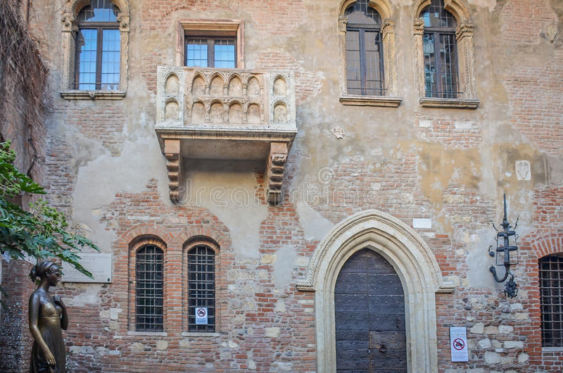 朱丽叶的议院在意大利的维罗纳 免版税库存图片