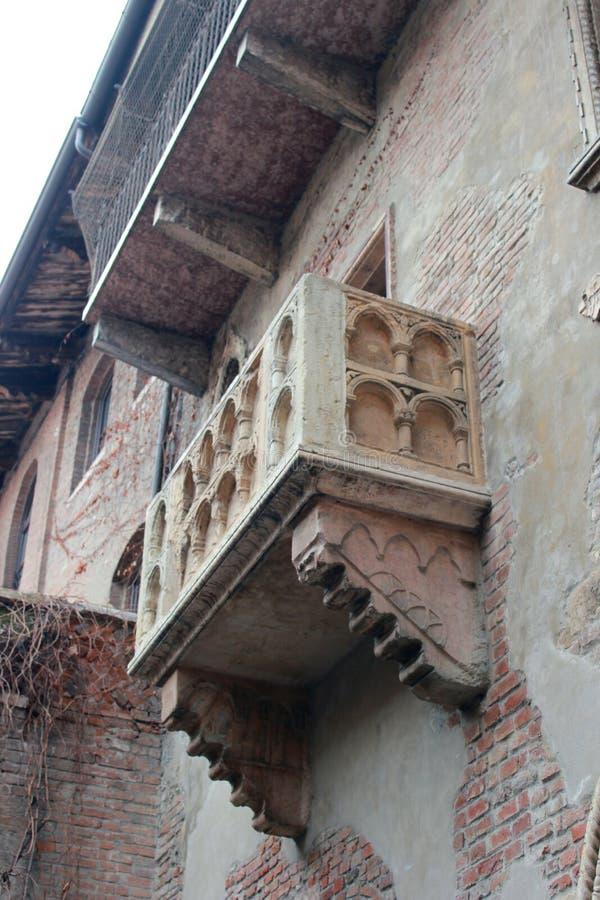 朱丽叶的阳台(Casa di Giulietta) 库存图片