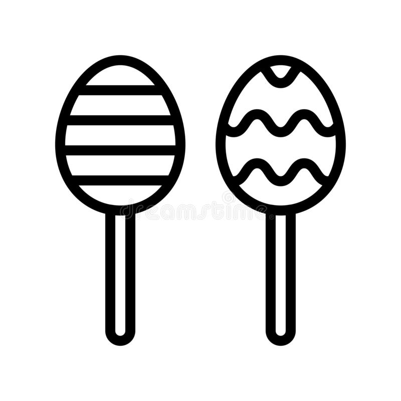 朱古力蛋传染媒介,复活节线象编辑可能的冲程 库存例证