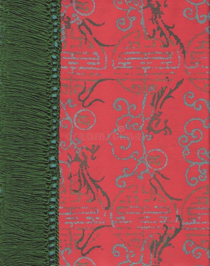 朱红色的丝绸 免版税库存图片