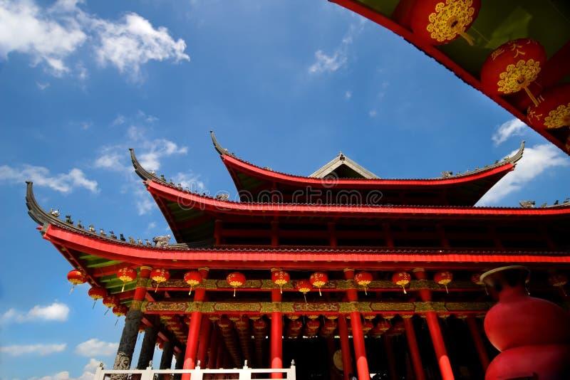 朱红色的寺庙 库存照片