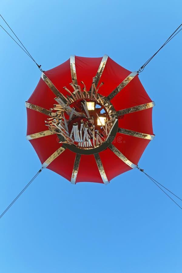 朱红色的灯笼 免版税图库摄影
