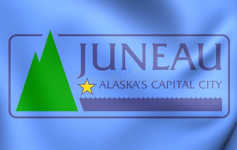 朱诺,阿拉斯加旗子  向量例证
