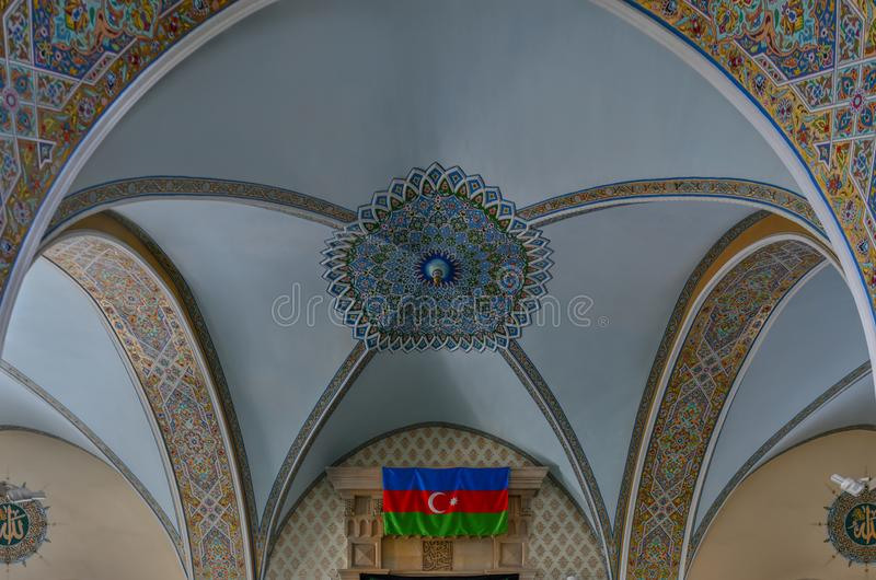 朱马清真寺-巴库,阿塞拜疆 库存照片