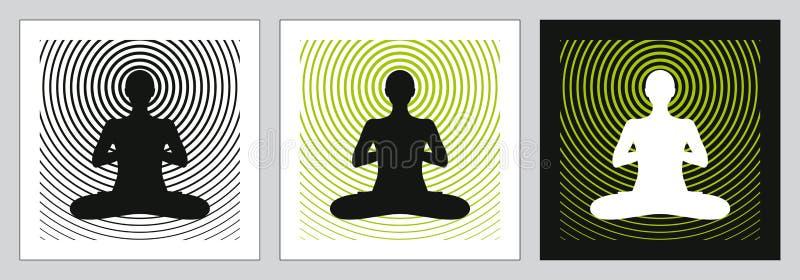 机体头脑灵魂瑜伽 皇族释放例证