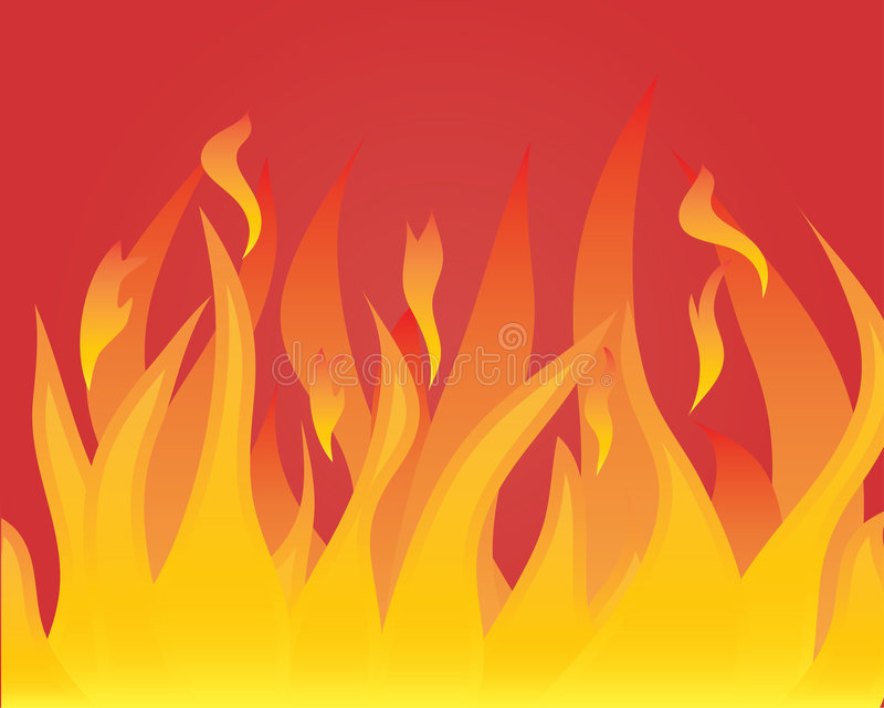 机体火焰 向量例证