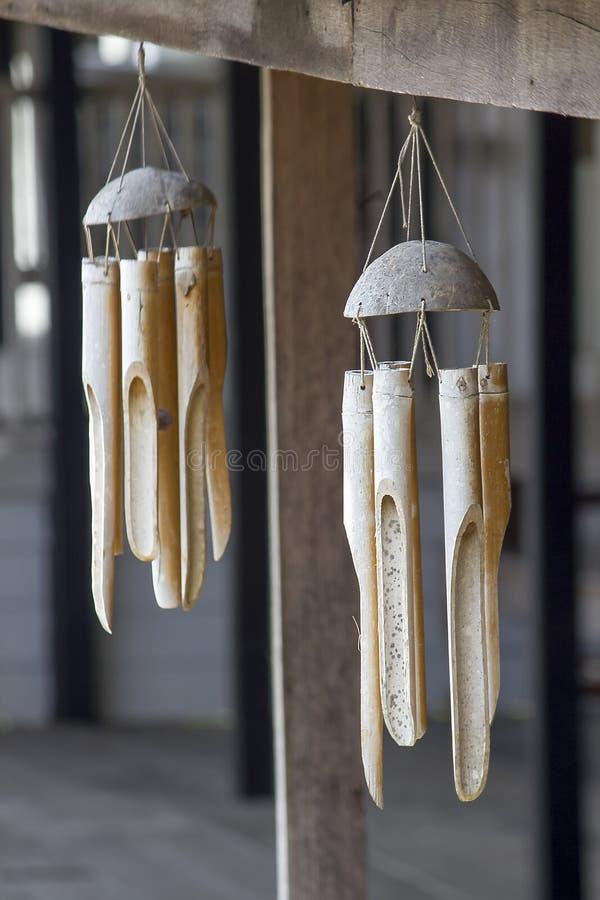 机动性做了竹子用于装饰地方 图库摄影