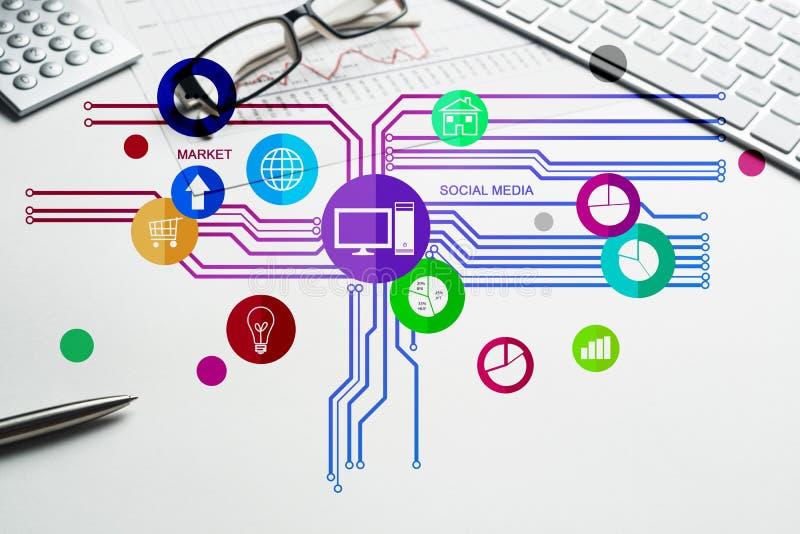 机动性和Web应用程序的接口设计 免版税库存图片