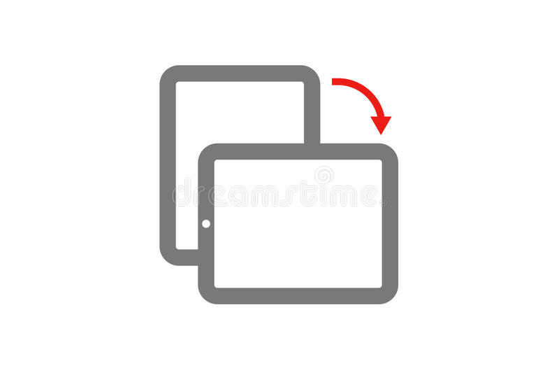 机动性转动,轻碰屏幕,机动性转动,轻碰屏幕,机动性转动 库存例证