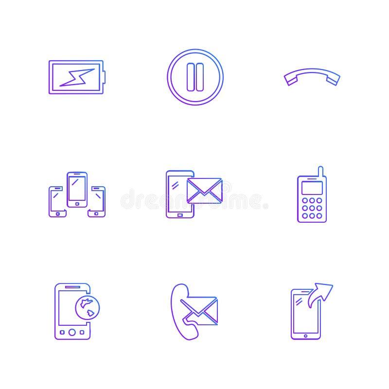 机动性,媒介,多媒体,电话,电话, eps象设置了vect 皇族释放例证