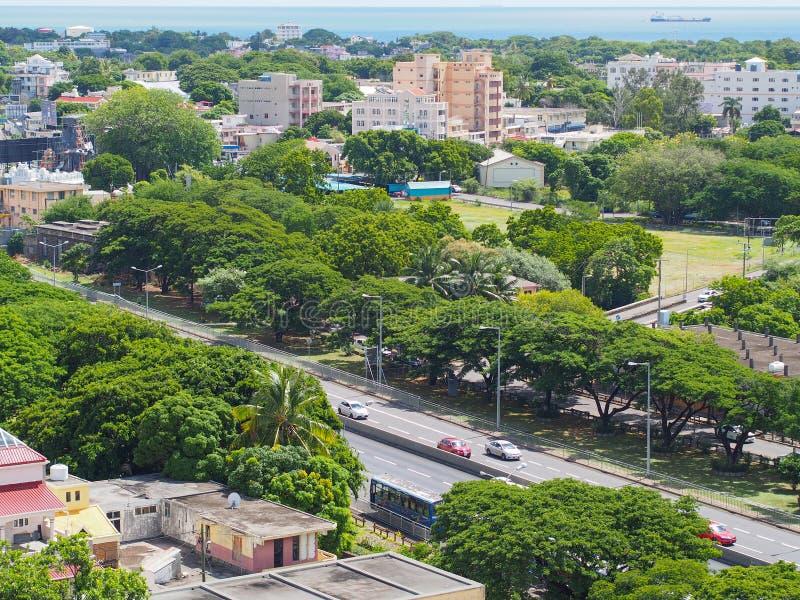 机动车路在毛里求斯 图库摄影