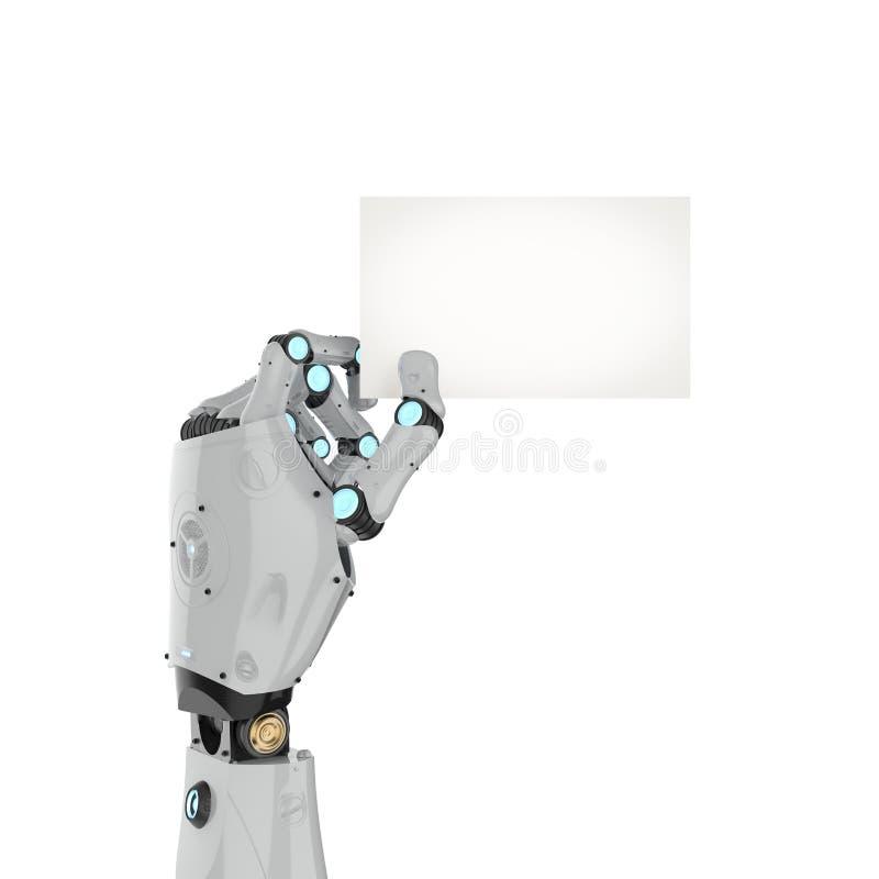 机器人举行namecard 皇族释放例证