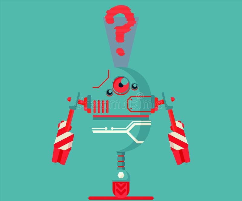 机器人例证图表 皇族释放例证