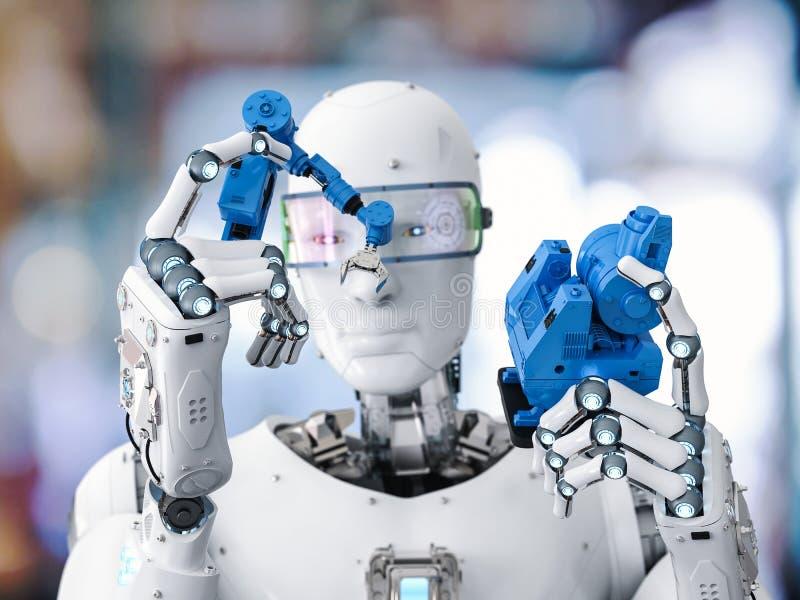 机器人修造机器人胳膊 向量例证