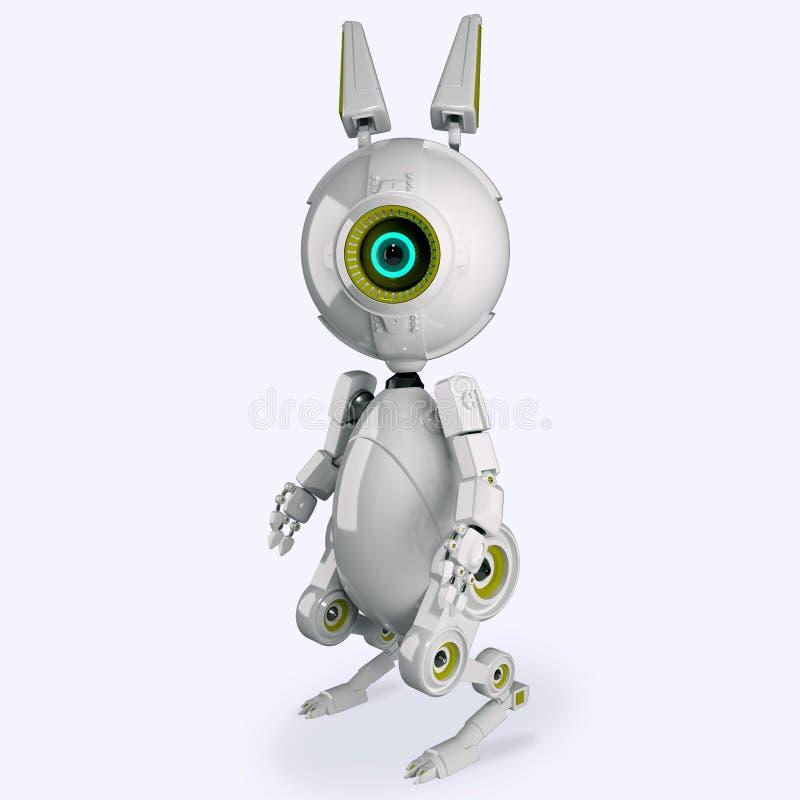 机器人兔子 皇族释放例证