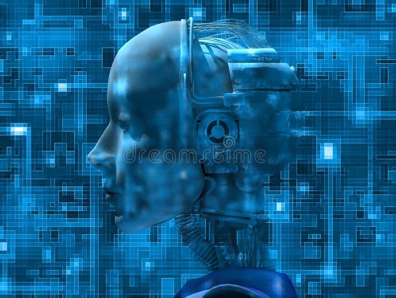 机器人内部显示技术 皇族释放例证