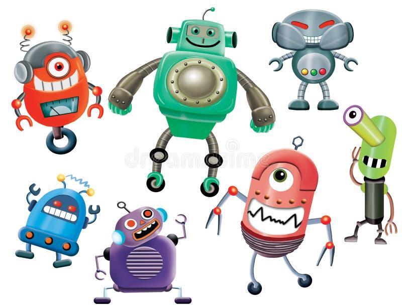 机器人动画片 库存例证