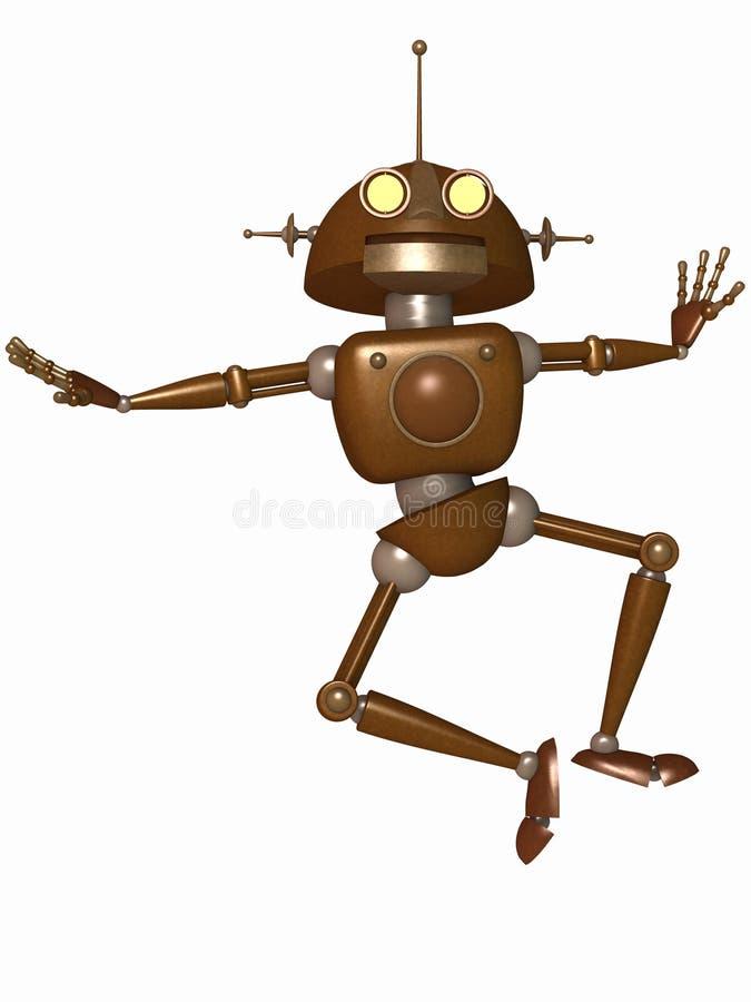 机器人印度桃花心木 皇族释放例证