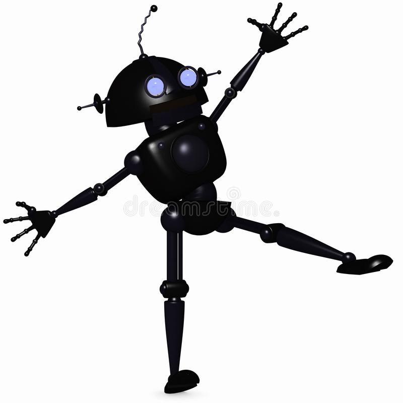 机器人印度桃花心木 库存例证