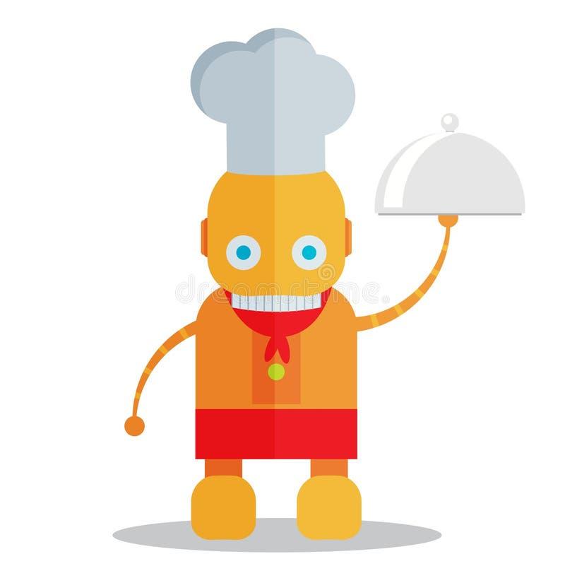 机器人厨师 向量例证