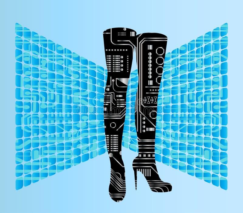 机器人启动 皇族释放例证