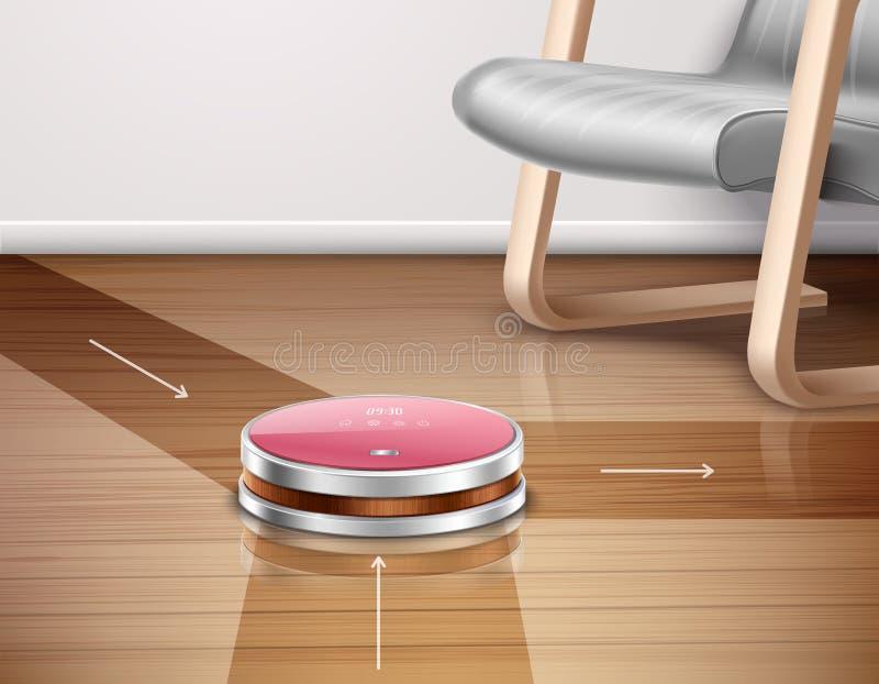机器人吸尘器例证 库存例证