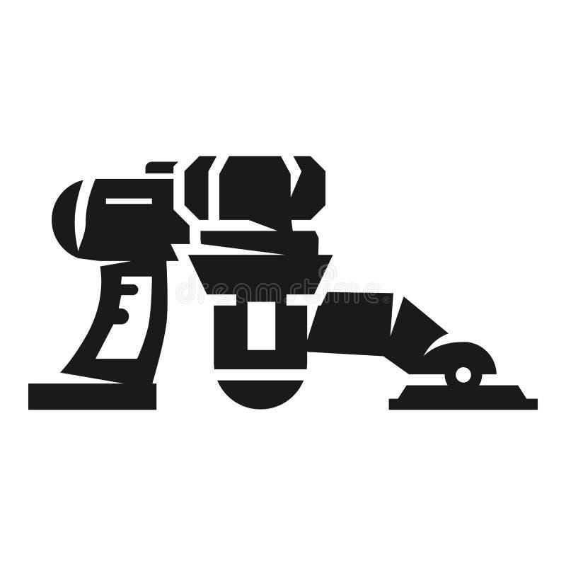 机器人吸尘器象,简单的样式 向量例证