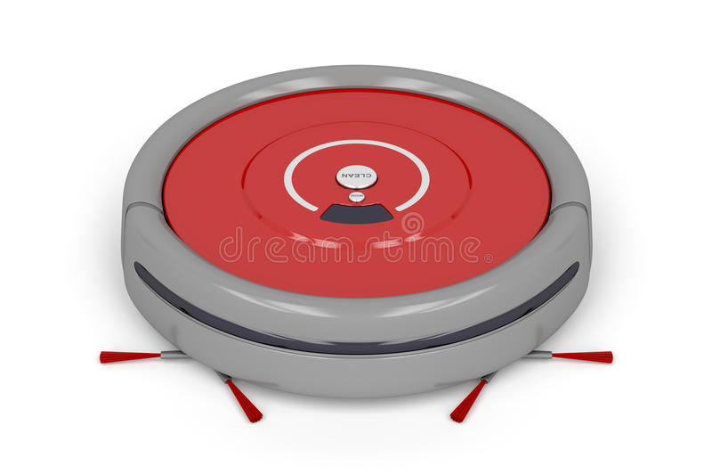 机器人吸尘器 向量例证