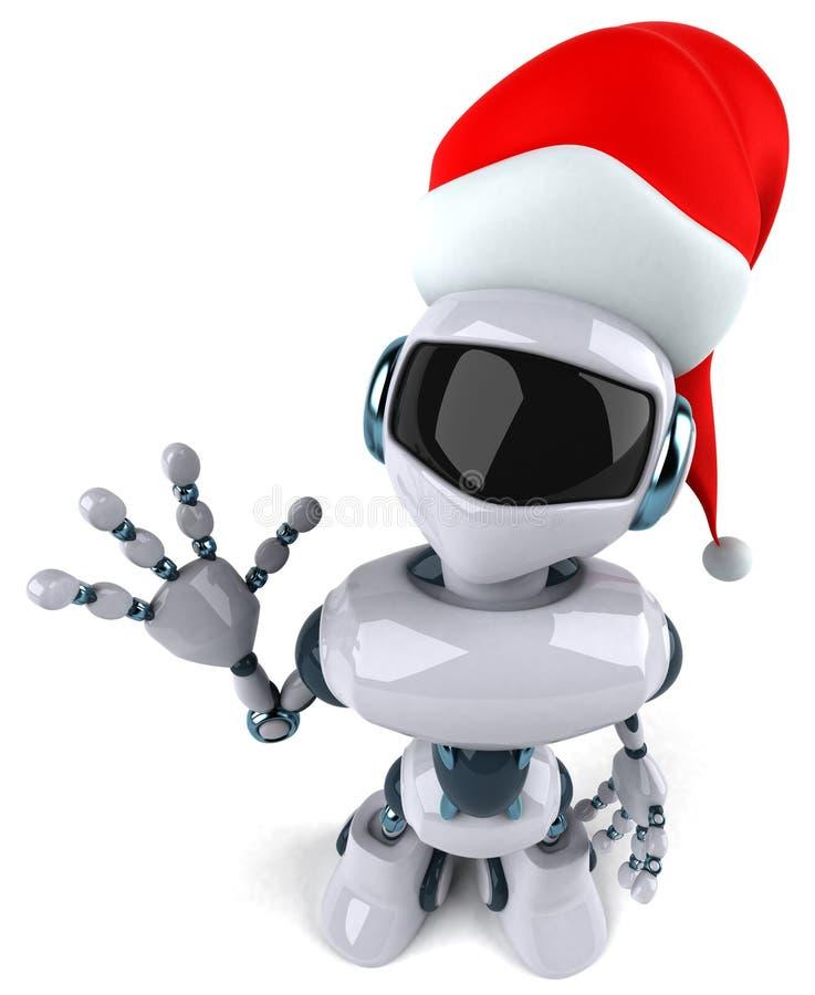 机器人圣诞老人 皇族释放例证
