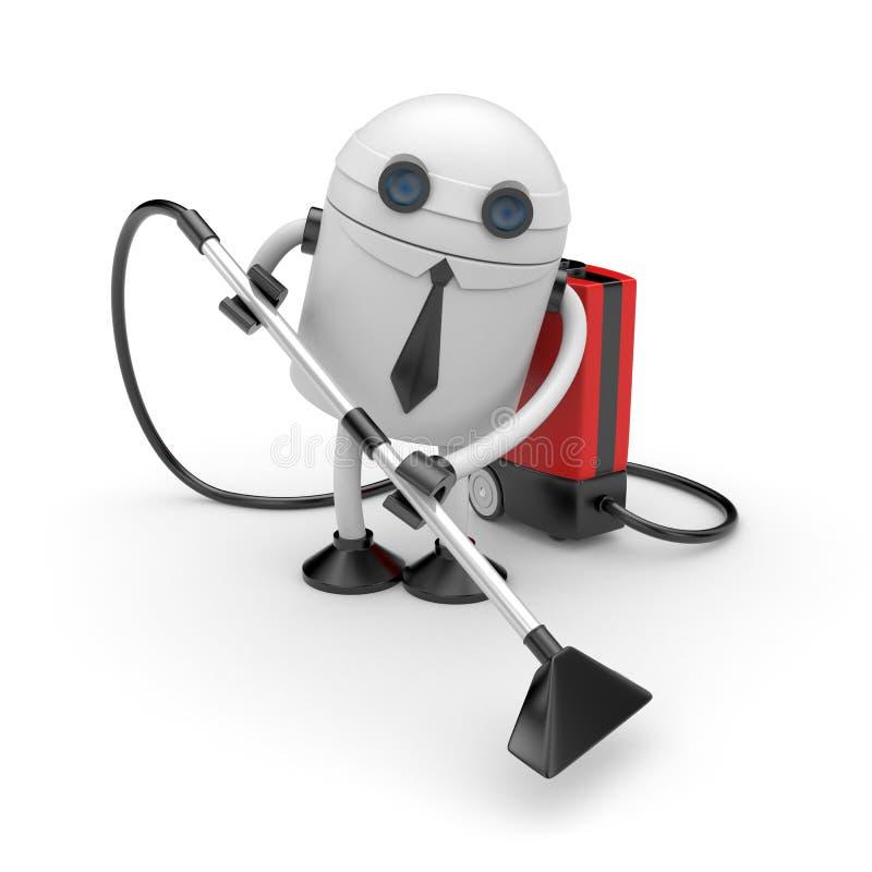 机器人在工作 库存例证