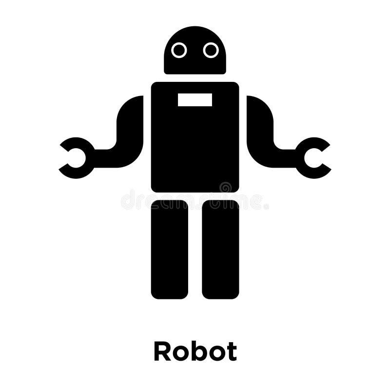 机器人在白色背景隔绝的象传染媒介,商标概念  向量例证