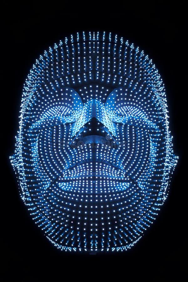机器人头  向量例证